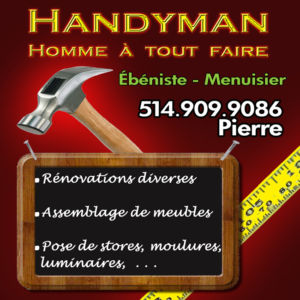 handyman homme tout faire travaux divers assemblage de meubles. Black Bedroom Furniture Sets. Home Design Ideas