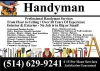 Handyman Services – Homme a Tout Fair – $ 15 Per Hour Services